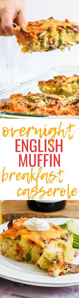 Overnight English Muffin Breakfast Casserole