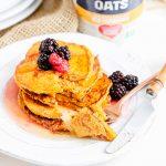 Oatmeal Pumpkin Protein Pancakes