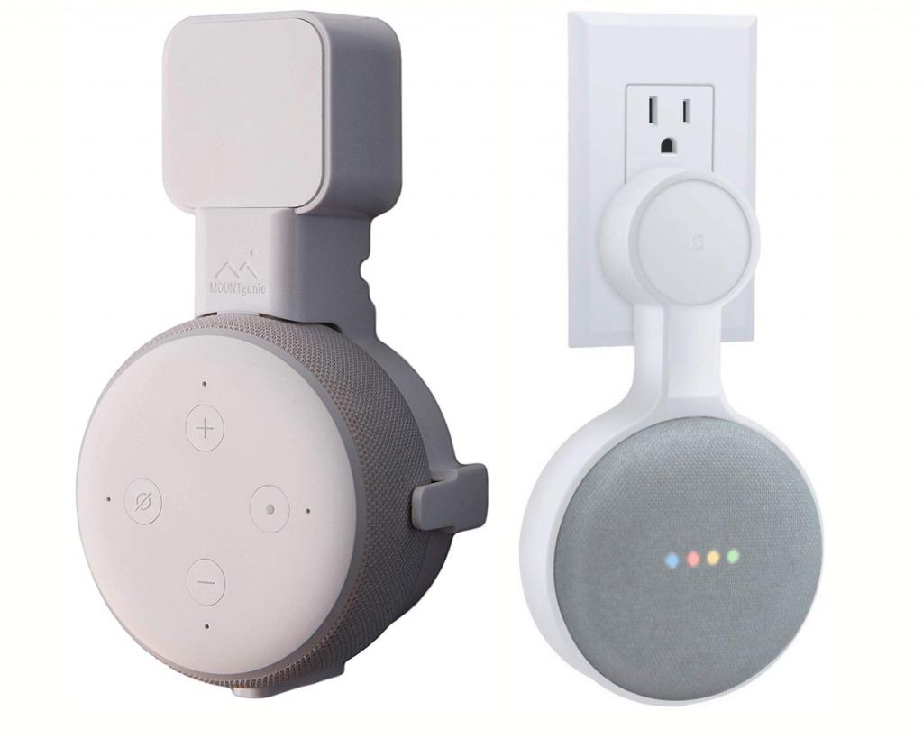 amazon echo dot wall mount google home mini wall mount