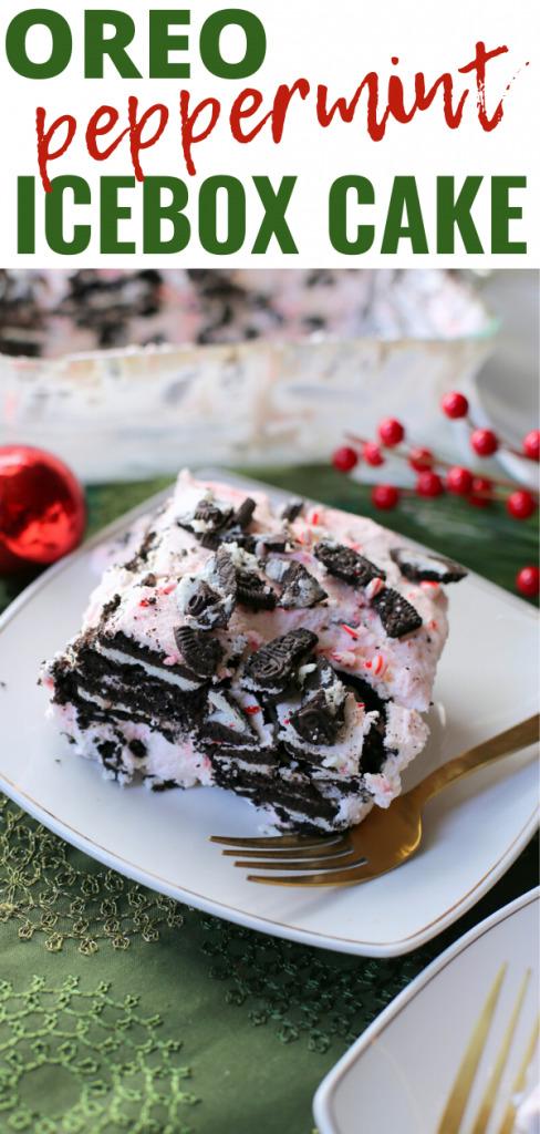 Oreo Peppermint Icebox Cake