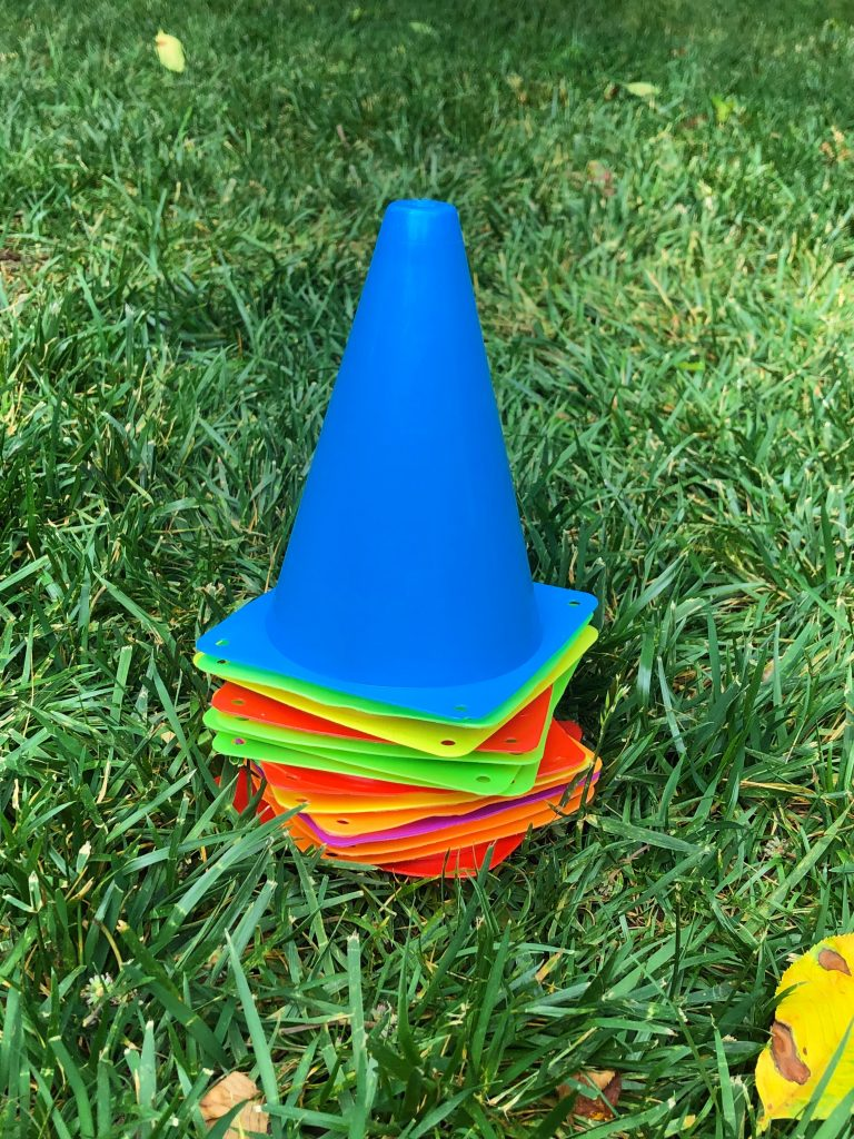 sports cones obstacle course