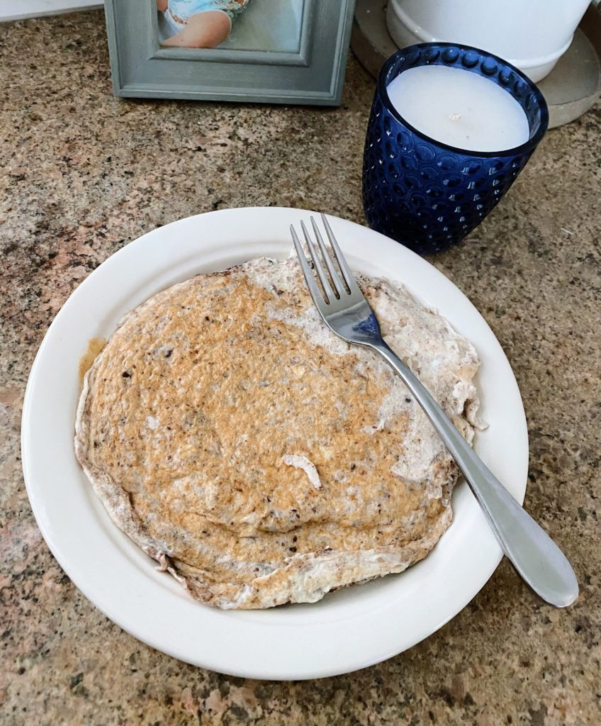 egg white oatmeal pancake