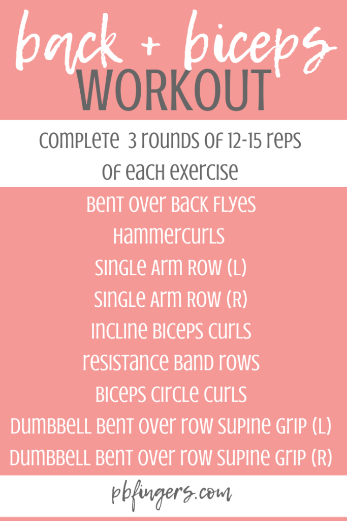 back biceps workout