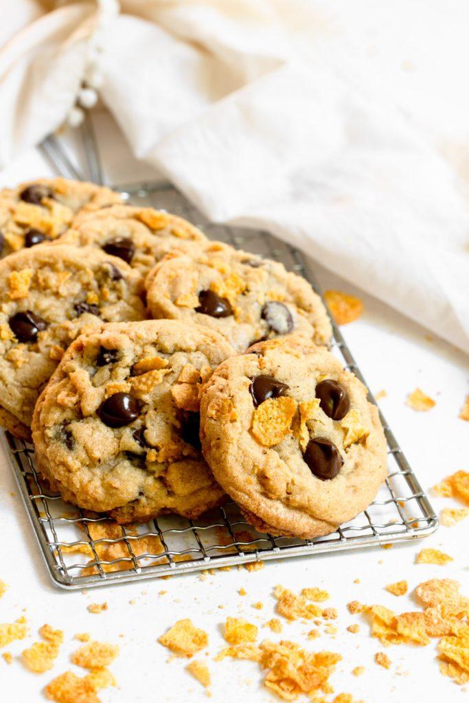 Chocolate Chip Corn Flake Cookies