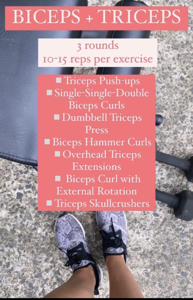 biceps triceps workout