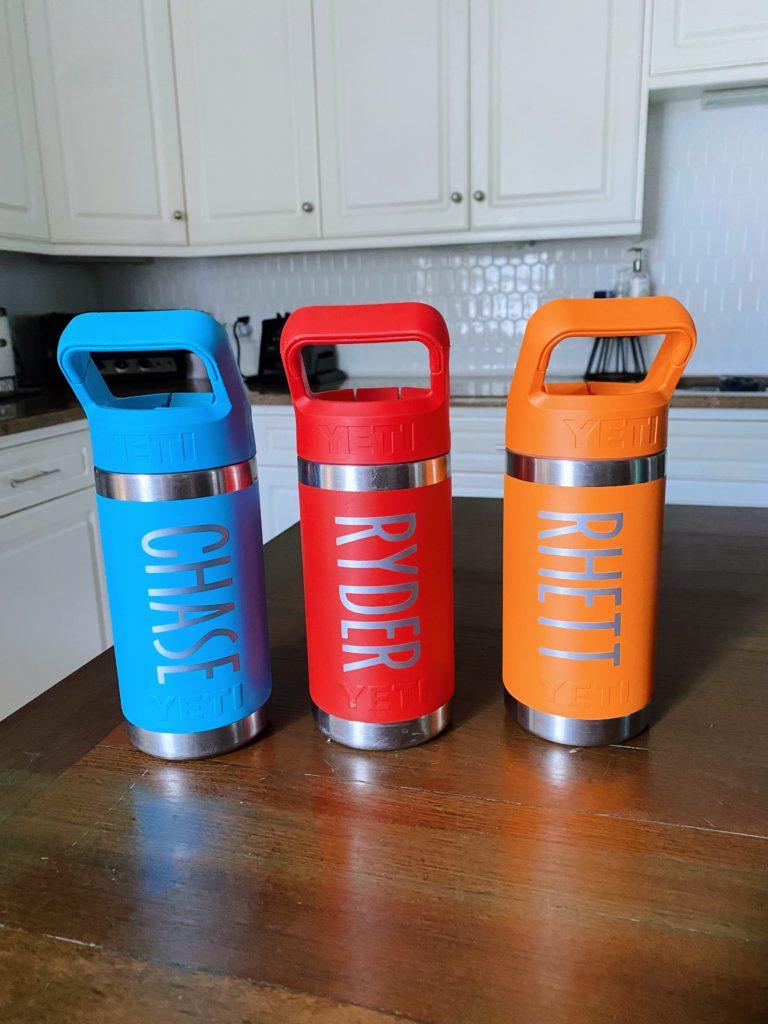 personalized yeti kid water bottles