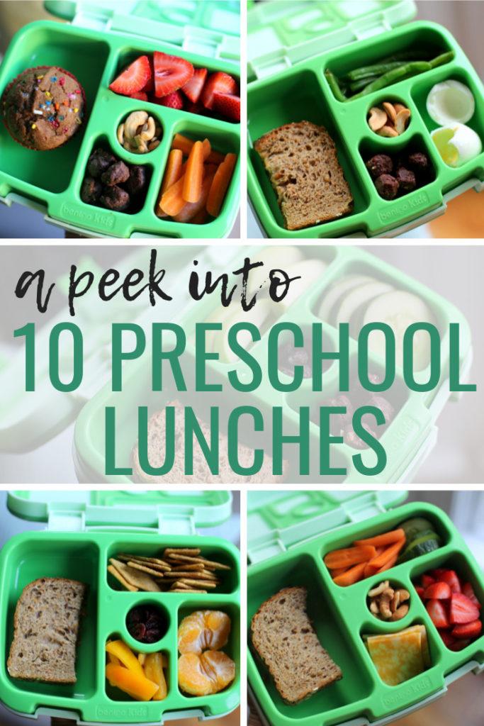 10 preschool lunches