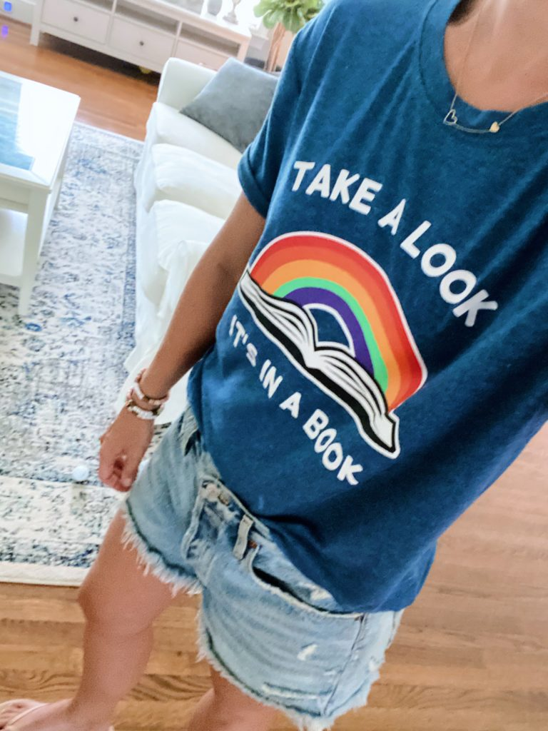 take a look it's in a book tshirt