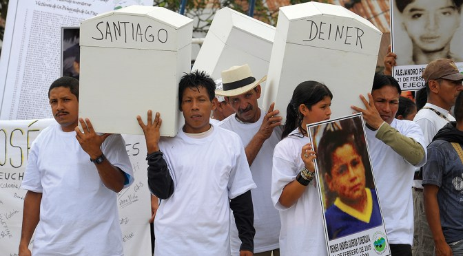 The defence of human rights, a high-risk activity in Colombia: Stigmatization