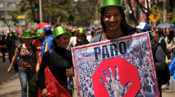 International accompaniment during national protest in Bogota