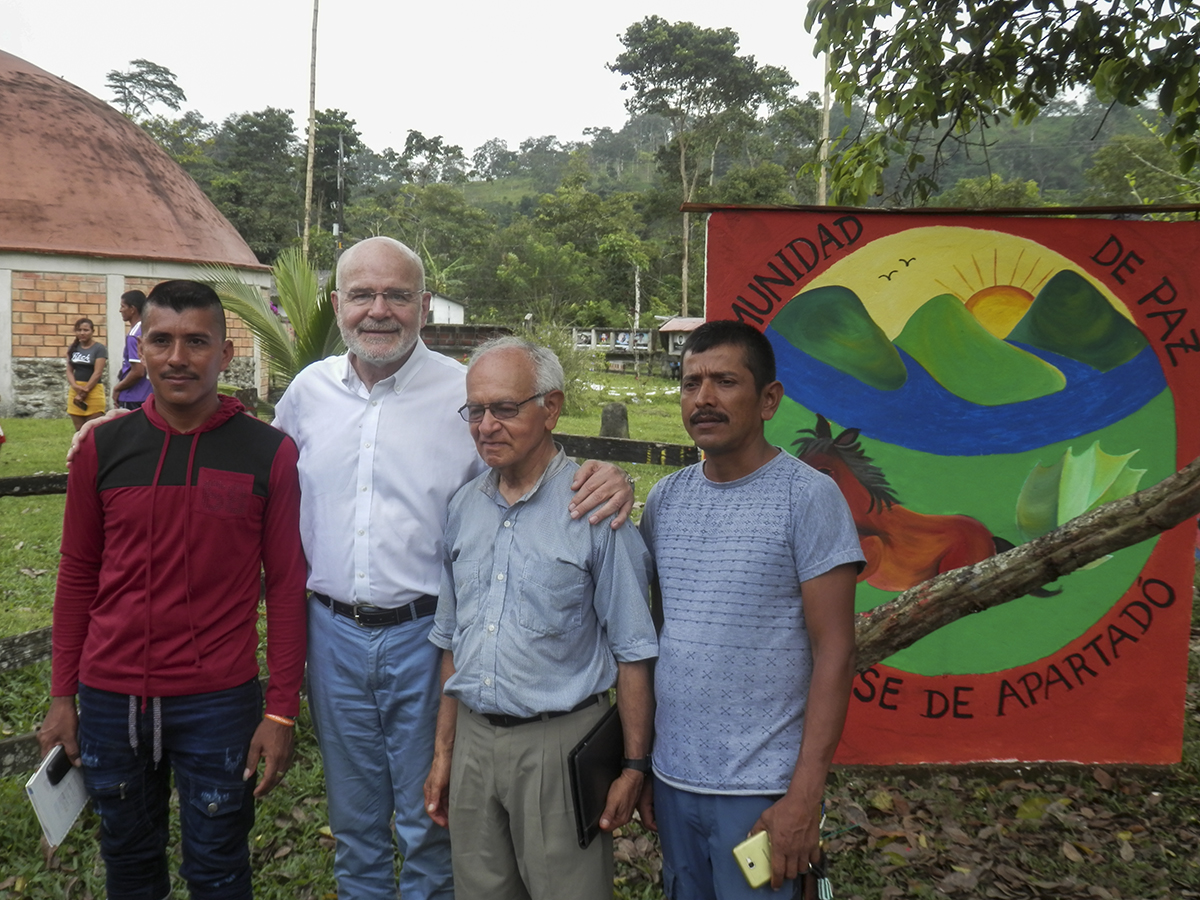 The voice that will carry the concerns of the Peace Community of San José de Apartadó