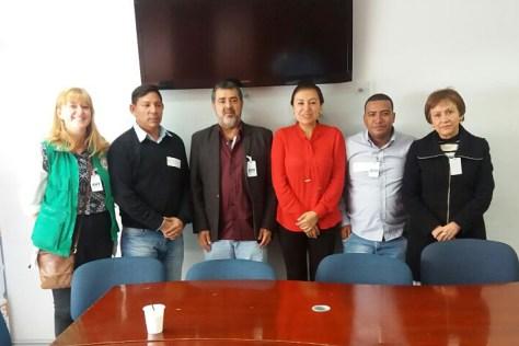 Hannah, Iván, Pablo Arenales, Ivonne Gonzalez (Directora de Derechos Humanos del Ministerio del Interior), Jahel Quiroga Carrillo (Directora de la Corporación Reiniciar)