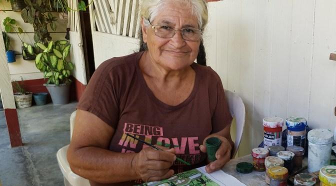 Doña Brigida y el arte por la memoria de la Comunidad de Paz