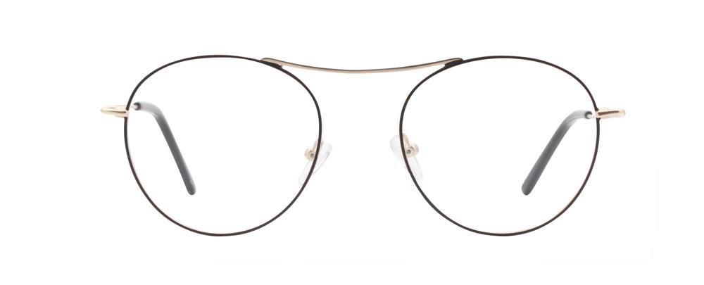 Santiago bril in het zwart/goud