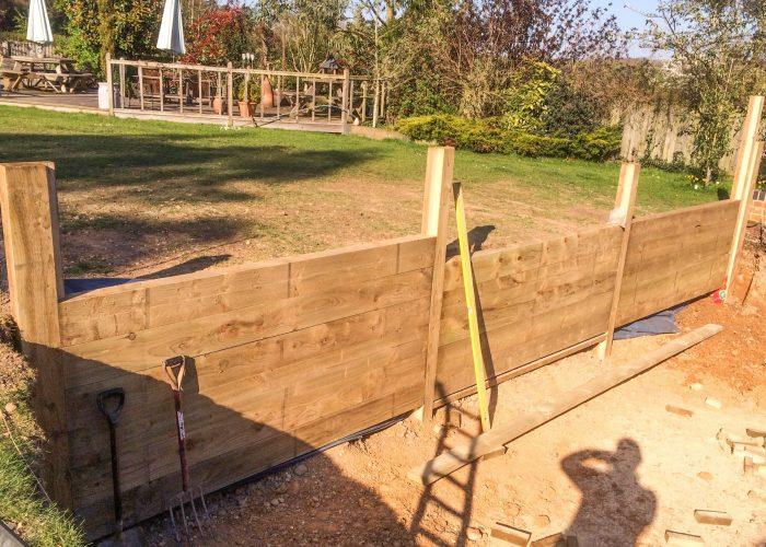 Sunken Seating Area by Builders in Newbury