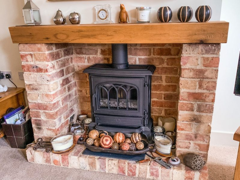 Fireplace by Builders in Newbury