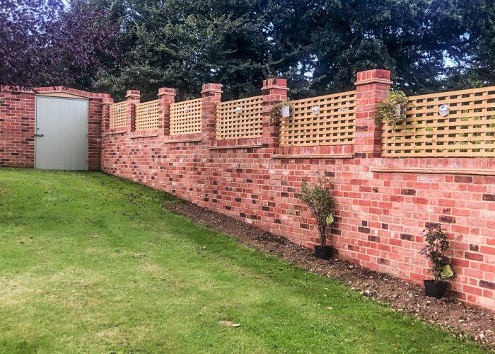 Garden Wall by Builders in Newbury