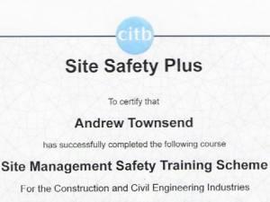Certificates - Builders in Newbury
