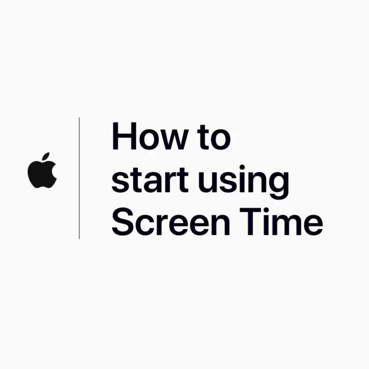 Image for the Tweet beginning: Screen Time in iOS 12