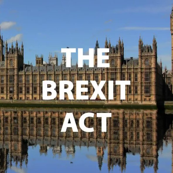 Image for the Tweet beginning: The Brexit Act has been