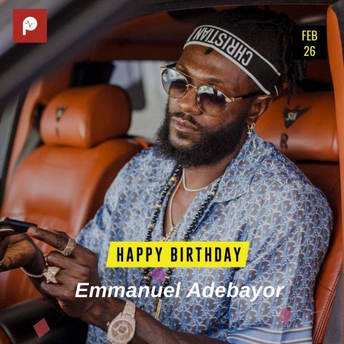 Image for the Tweet beginning: Sending #BorndayBlessings to @E_Adebayor! Best