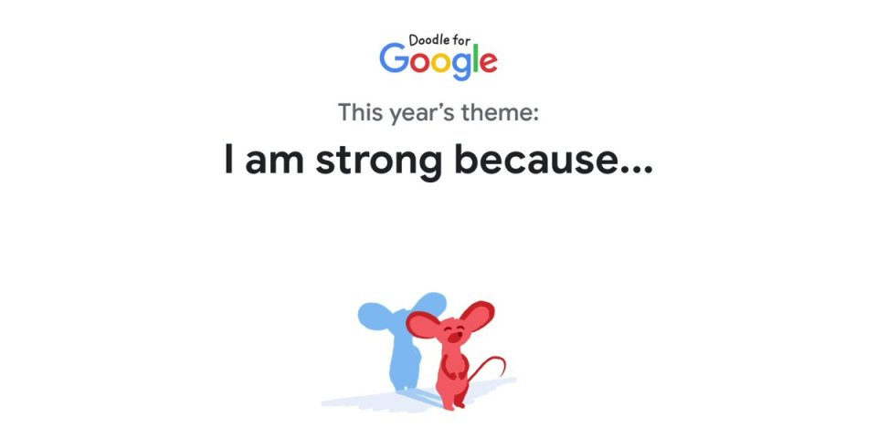 Image for the Tweet beginning: The #DoodleForGoogle contest is officially