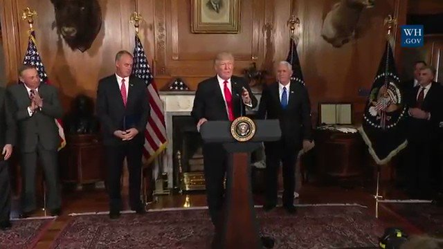 Today, I signed an Executive Order @ the U.S. Dept. of @Interior: 'Review of Designations Under the Antiquities Act' https://t.co/590ZX7cUV9