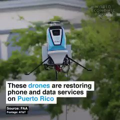 Image for the Tweet beginning: #Drones that can restore phone