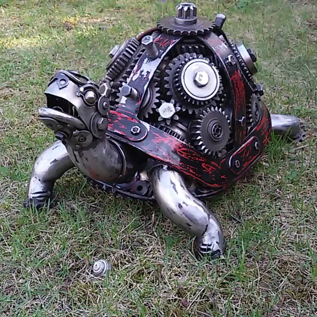 RT @Steampunk_T: Stunning turtle Made from car and motorcycle parts by⠀ Vadim...