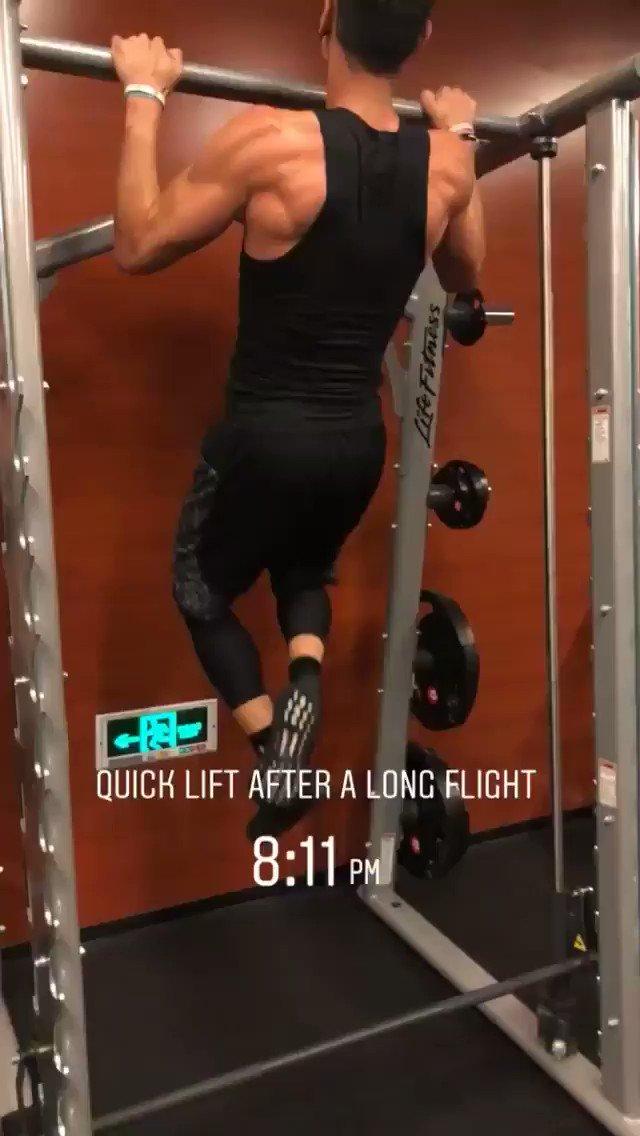 RT @penny10654 @JLin7 (IG Story) Quick lift after a long flight