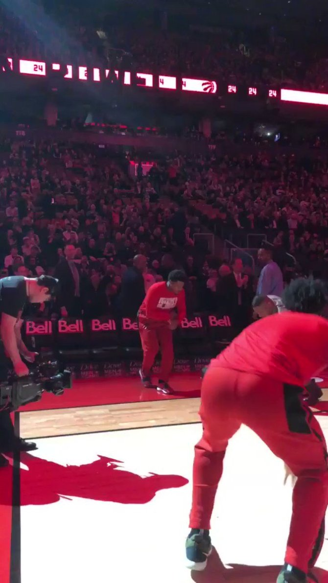 RT @BleacherReport The @Raptors player intros are ridiculous 😂