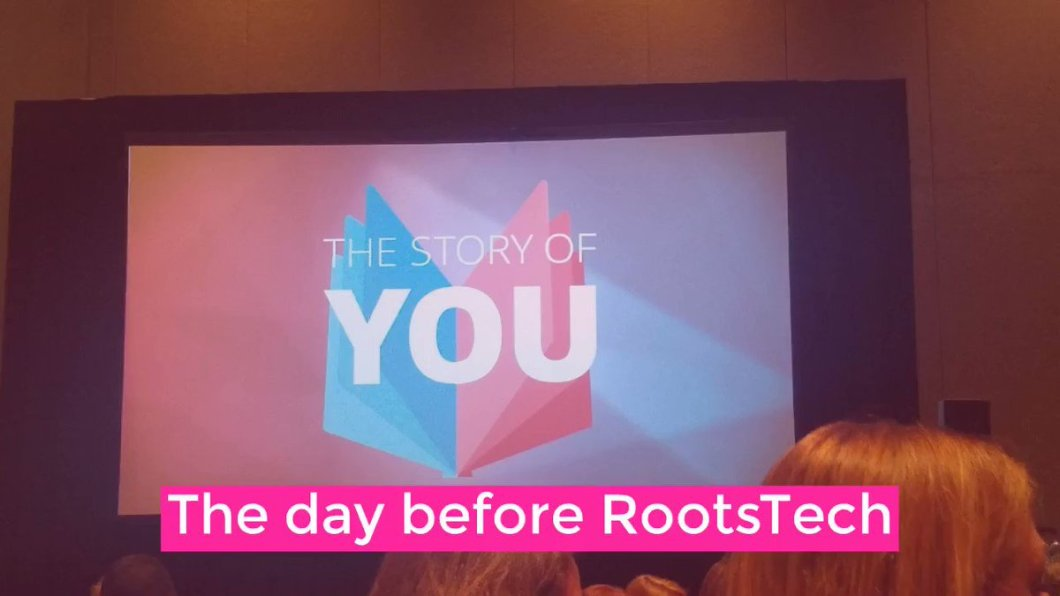 Image for the Tweet beginning: RootsTech is super fun for