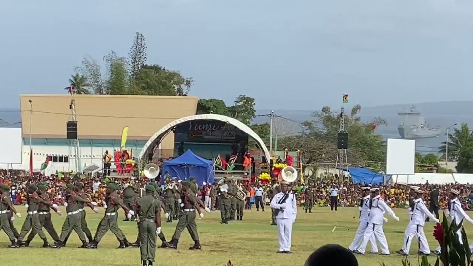 So much pride and happiness in evidence at this morning's flag-raising. Happy 40th Independence Anniversary #Vanuatu. Wishing you health, security…