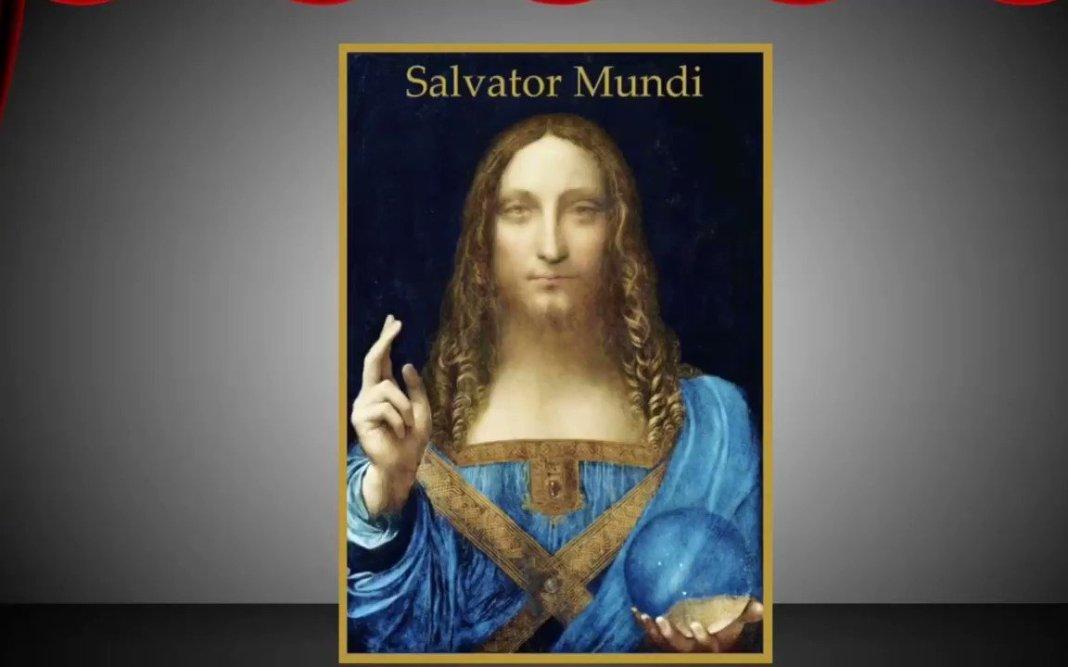 Image for the Tweet beginning: Enter stage right: Salvator Mundi