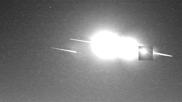 Image for the Tweet beginning: Fragmentation of the #Winchcombe #meteorite