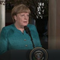US President Trump welcomes Chancellor Merkel to the White House