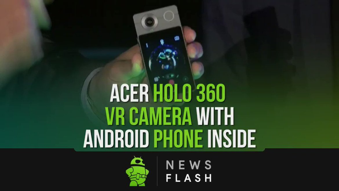 The #Acer Holo 360 is a #VR camera that will double as an #Android phone. Read more: