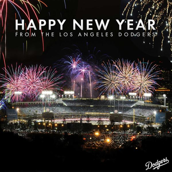 Los Angeles Dodgers on Twitter   Happy New Year  http   t co mlNTqZ54