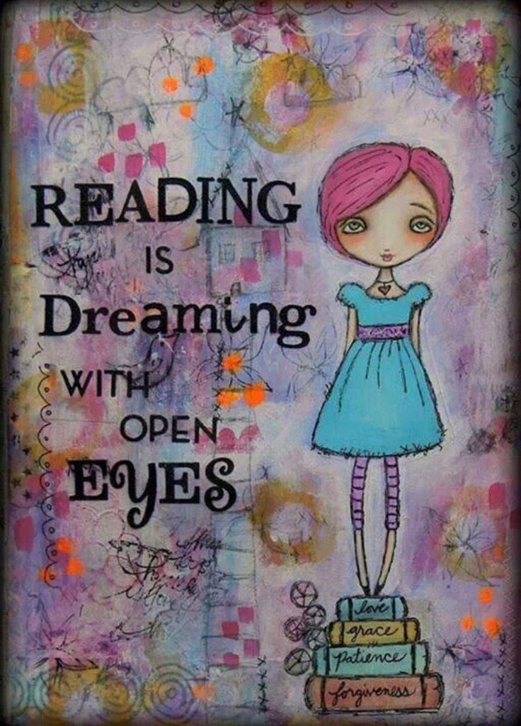 Resultado de imagen para leer es soñar con los ojos abiertos