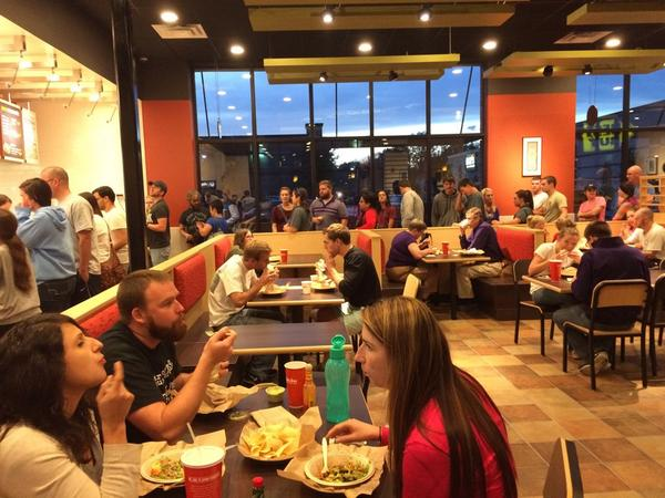 Qdoba on 3rd Grand opening