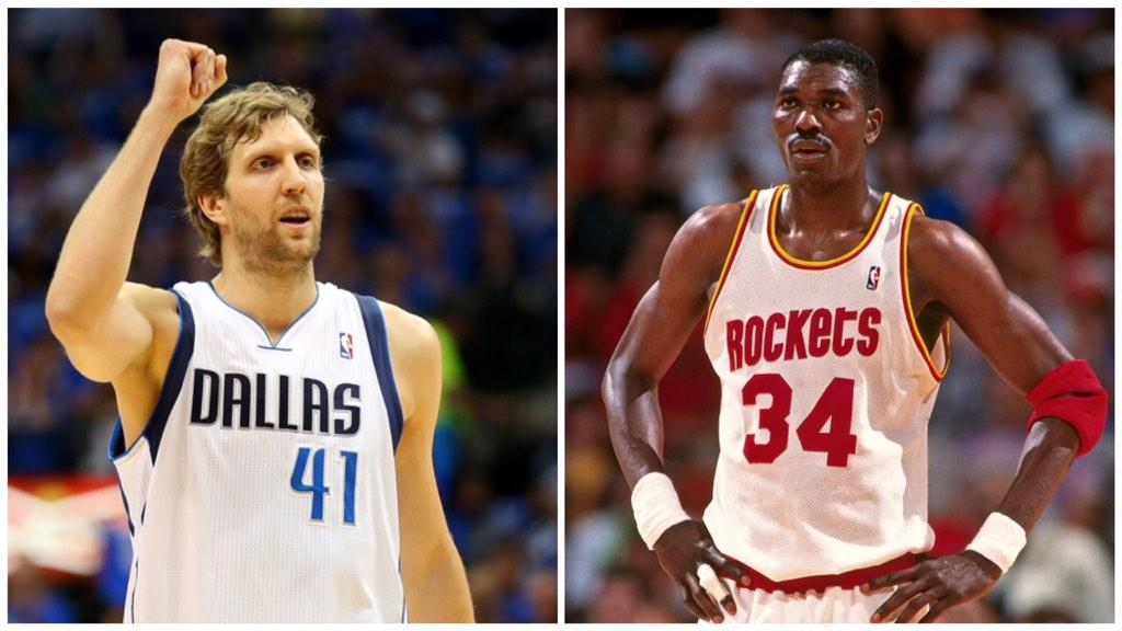 Image result for hakeem olajuwon and dirk nowitzki