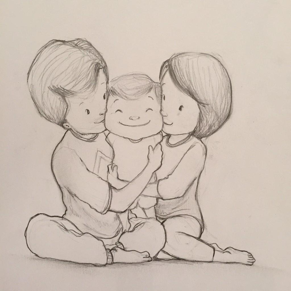 Mewarnai Sketsa Gambar Ayah Ibu Anak Terbaru KataUcap