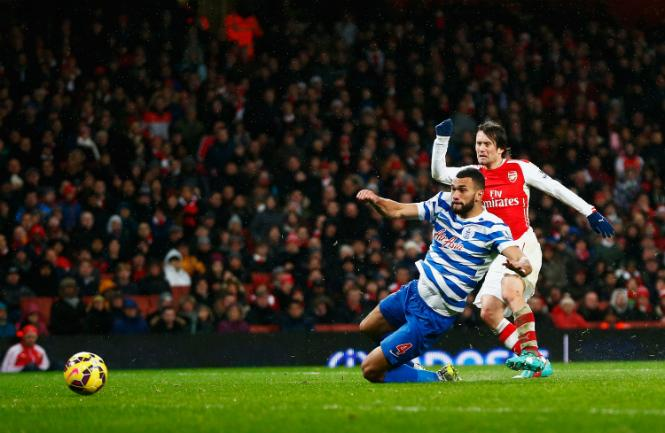 Rosicky scores Arsenal's second [via @PremierLeague]