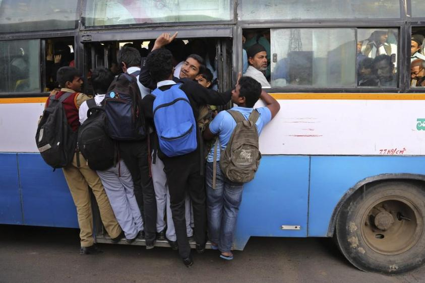 Image result for crowded indian bus