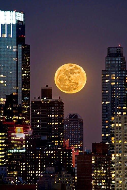 test ツイッターメディア - 2014年7月にニューヨークの高層ビル群の合間から観測されたスーパームーン。 ビルから洩れる多くの灯りが月とマッチしてお洒落でポップな風景になっています。 https://t.co/cUKve6axmn