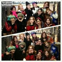 130118 f(Amber, Krystal, Victoria) Selca with Girls' Generation Members