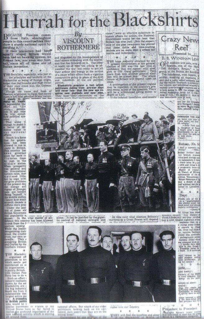Hurray for the Blackshirts, Daily Mail 1934 fascist propaganda