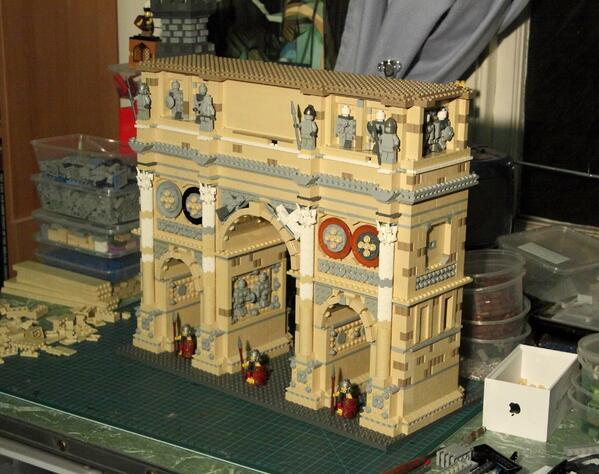 Michael Turner on Twitter   Lego Arch of Constantine part of the     Michael Turner on Twitter   Lego Arch of Constantine part of the mighty   LegoColosseum  Last week  NicholsonMuseum  Nearly 100 000 have seen