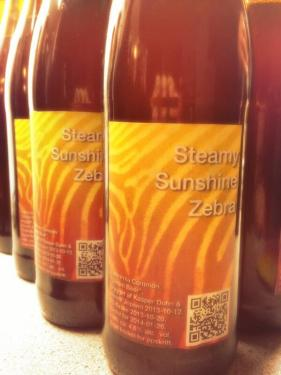 Steamy Sunshine Zebra