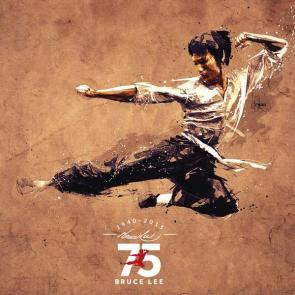 Bruce Lee 75. yıl anısına yapılmış bir çalışma.